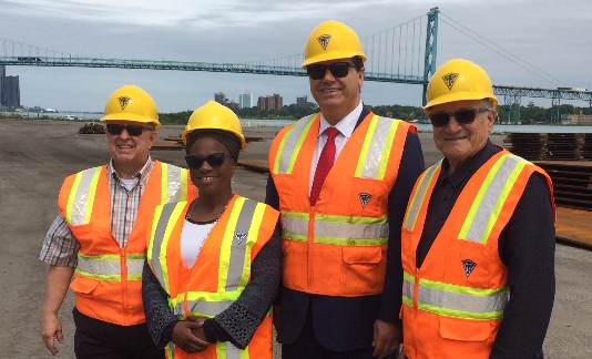 Commissioners tour port authority dock