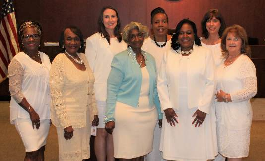 Wayne County Commissioners wear white to honor 100th anniversary of women's vote