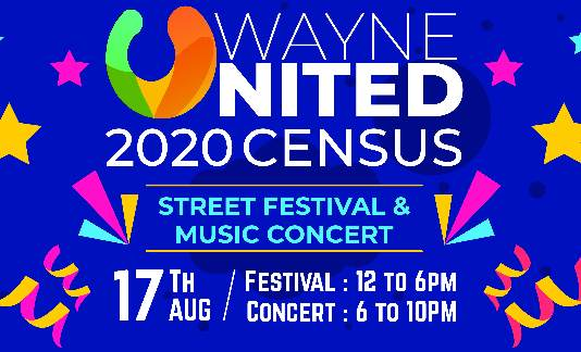 Wayne United 2020 Census Street Festival
