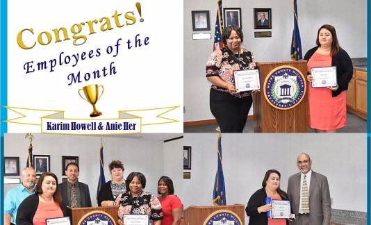 Congratulations to our Employees of the Month- September