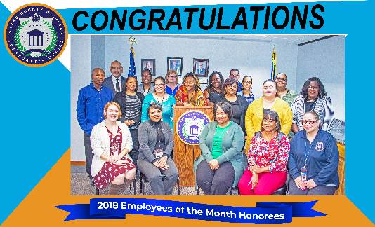 Congratulations to our 2018 Employees of the Month Honorees