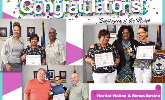 Congratulating our Employees of the Month