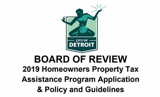 City of Detroit to accept Homeowners Property Tax Exemption applications through December 20