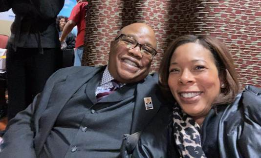 Victor Marsh attends Dr. Martin Luther King Jr. celebration at DMC-Sinai Grace Hospital