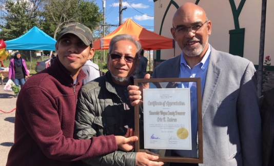 Treasurer Sabree Attends the Banglatown Farmers Market Official Grand Opening