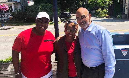 Treasurer Sabree with Mr. and Mrs. Hughes of Detroit