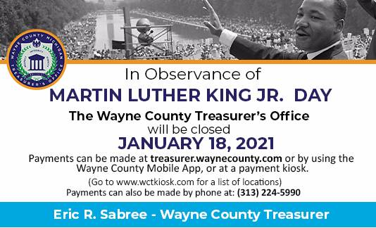 Martin Luther King Jr. Day Closure - January 18, 2021