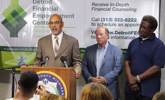 Detroit Financial Empowerment Center Press Confrence