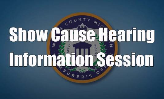 Show Cause Hearing Information Sessions