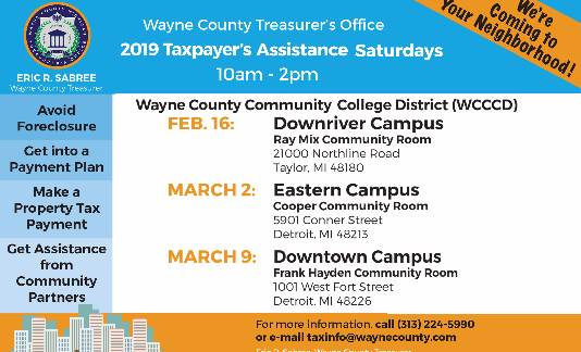 Taxpayer's  Assistance Saturdays
