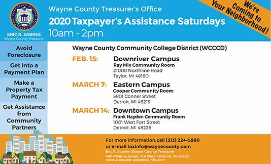 2020 Taxpayer's Assistance Saturdays