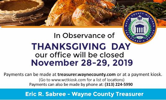 Thanksgiving Day Closure